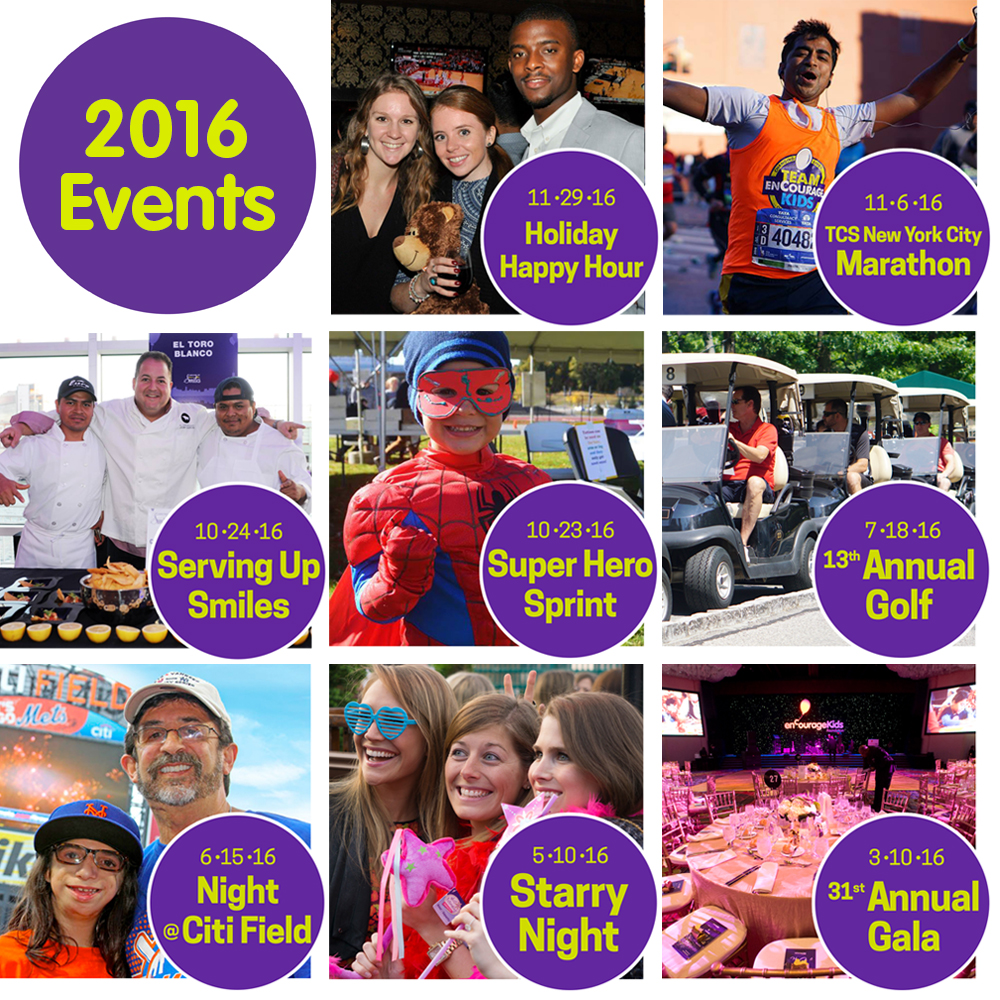 enCourage Kids - 2016 Events