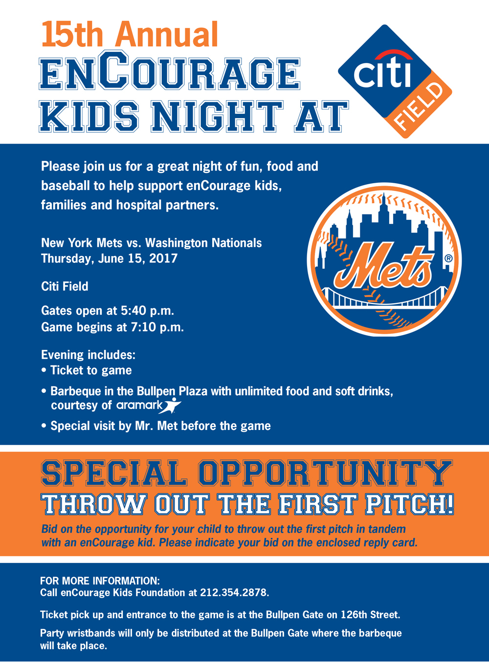 enCourage Kids Night at Citi Field